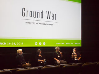 Ground War film, US Priemer at Environmental Film Fest in the Nation's Capital. With Director Andrew Nisker. March 19, 2019. Montgomery County, Maryland Healthy Lawns Act to stop harmful lawn pesticide use.